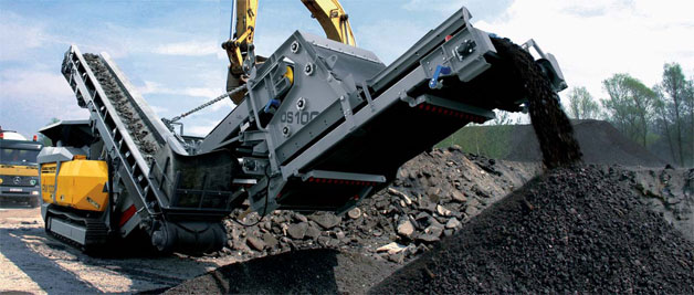 Rubble Master OS100 recycling asphalt